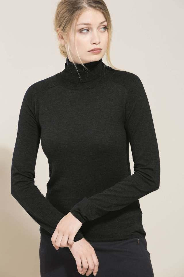 Rollneck Black Organic Cotton ( Før 699 kr)