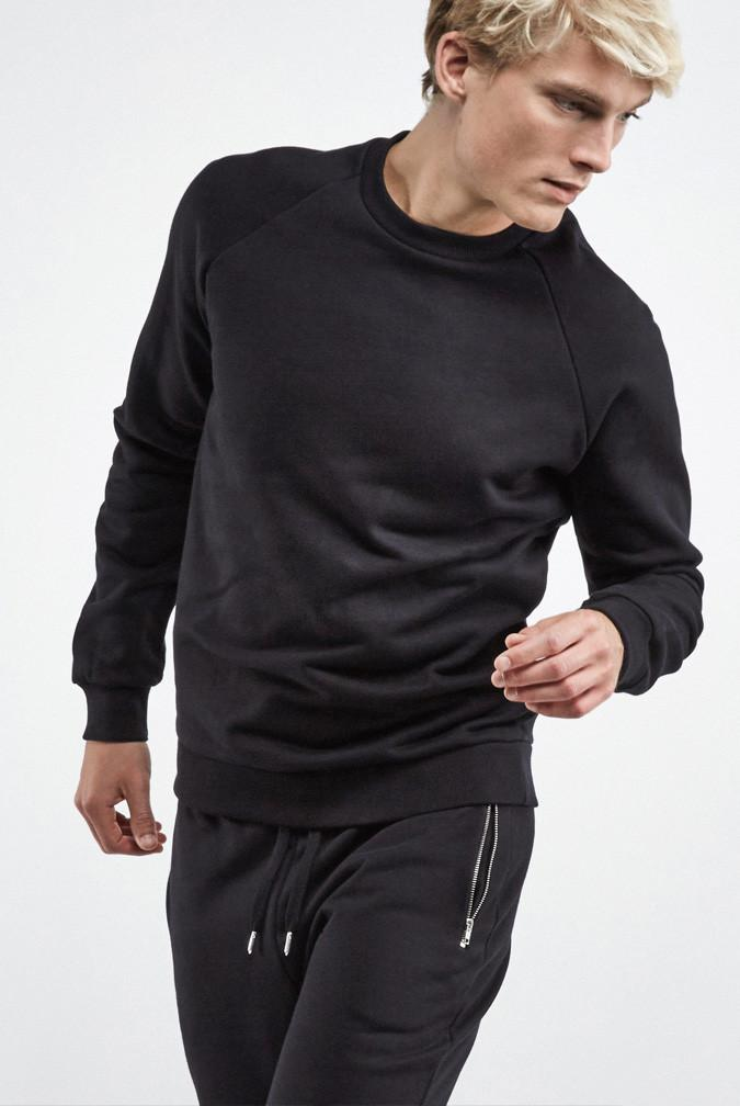 Sal Men's Sweater Organic Cotton Fleece Black ( Før 850 kr)