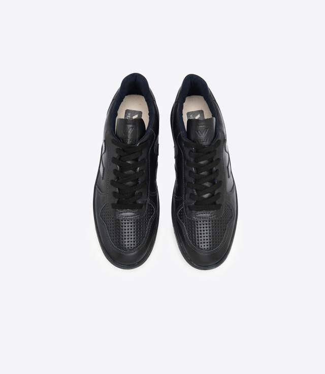 Sneakers V-10 Leather Black Black ( Før 900 kr)
