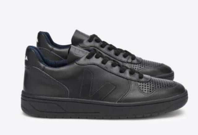 Sneakers V-10 Leather Black Black ( Før 900 kr)