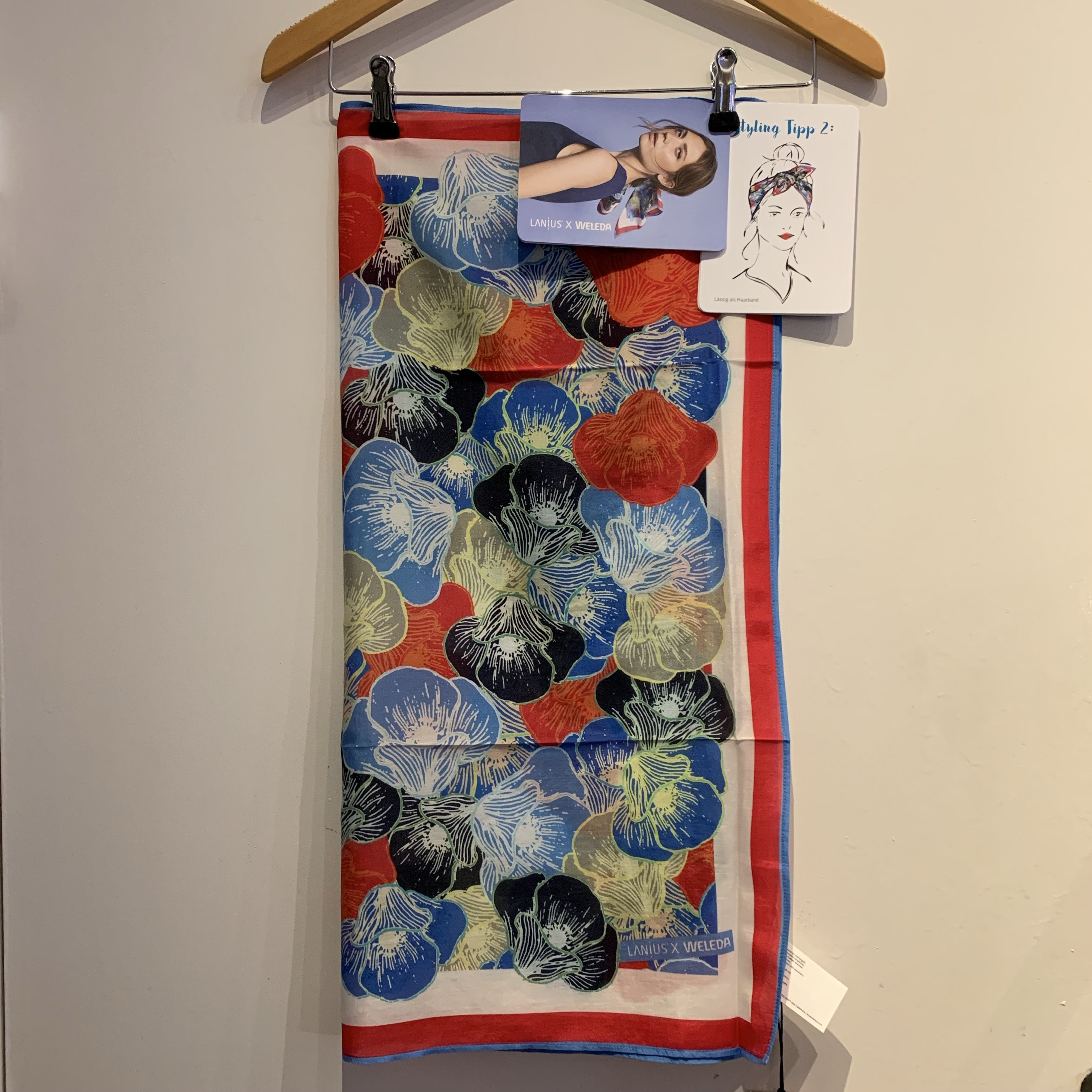 Weleda / Lanius  økologisk bomuld/silke tørklæde ( Før 229 kr)