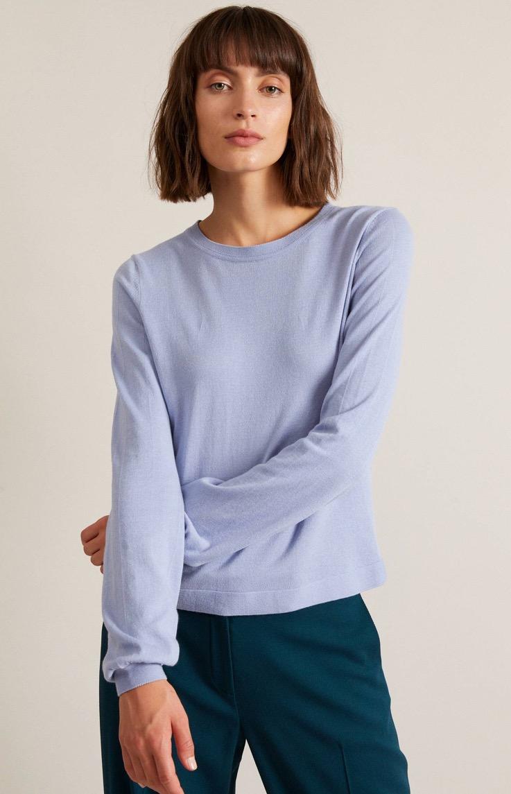 Pullover mit ballonärmel GOTS (Før 679 kr)