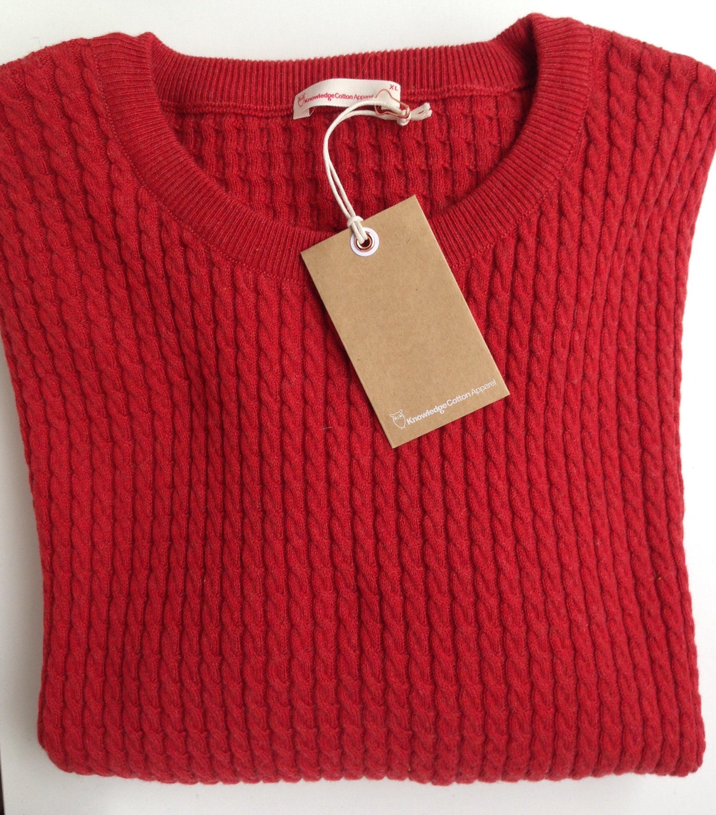 Organiccotton/Cashmere Cable Knit -GOTS, Str. X-Large ( Før 899 kr)