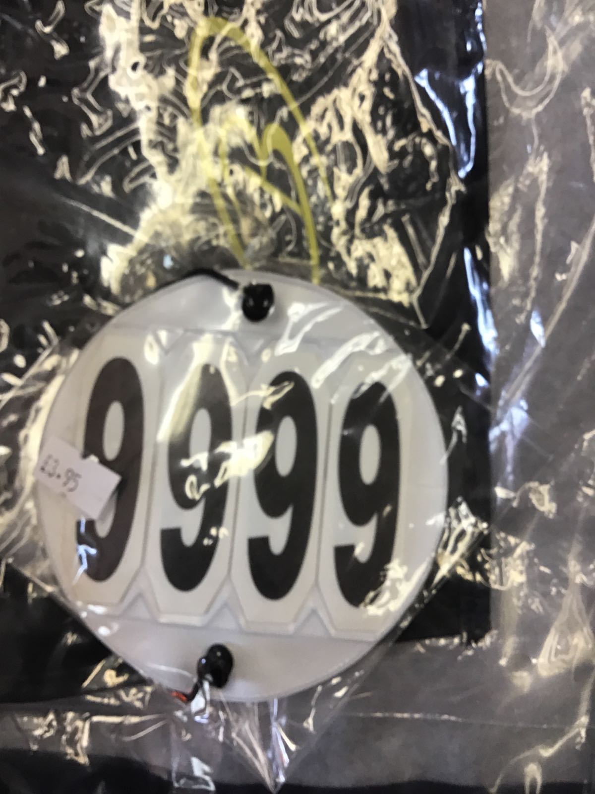 Competition bridle number discs (pair)