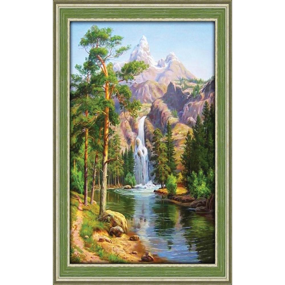 Vandfald i bjergene 30x40 cm