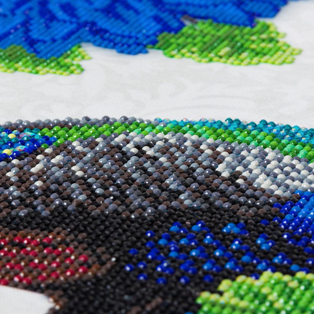 Crystal Art på ramme 30x30 cm: Stolt påfugl