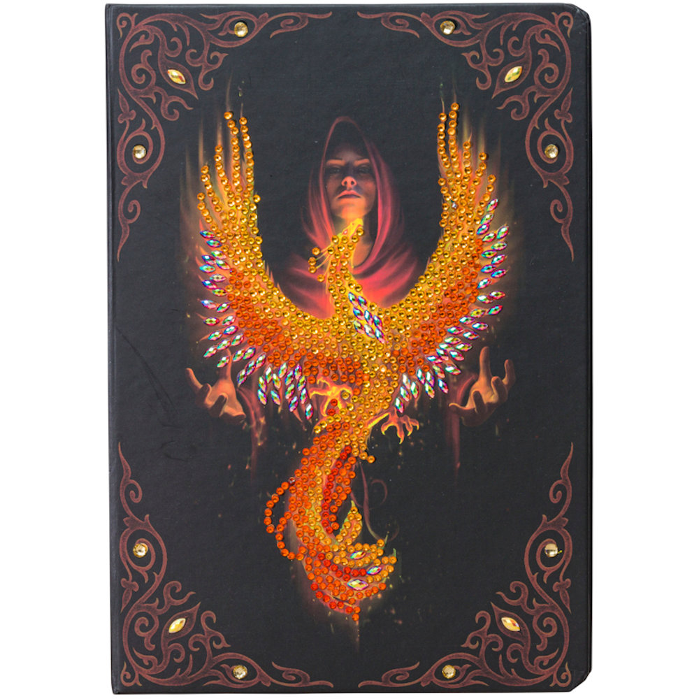 Notesbog Crystal Art: Anne Stokes Phoenix Rising