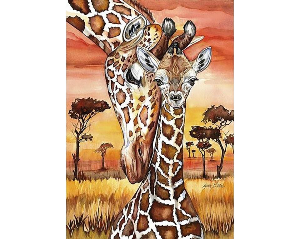 Giraffer 27x38 cm