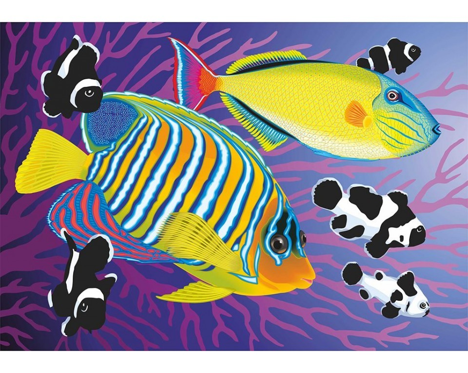 Colourful fishies 27x19 cm