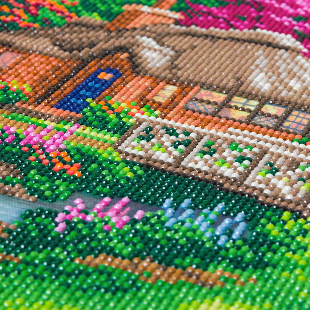 Crystal Art på ramme 30x30 cm: Thomas Kinkade, Friendship Cottage