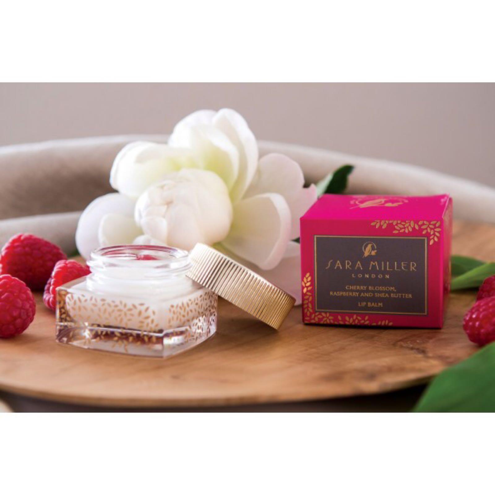 Sara Miller London Cherry blossom and Raspberry butter lip balm