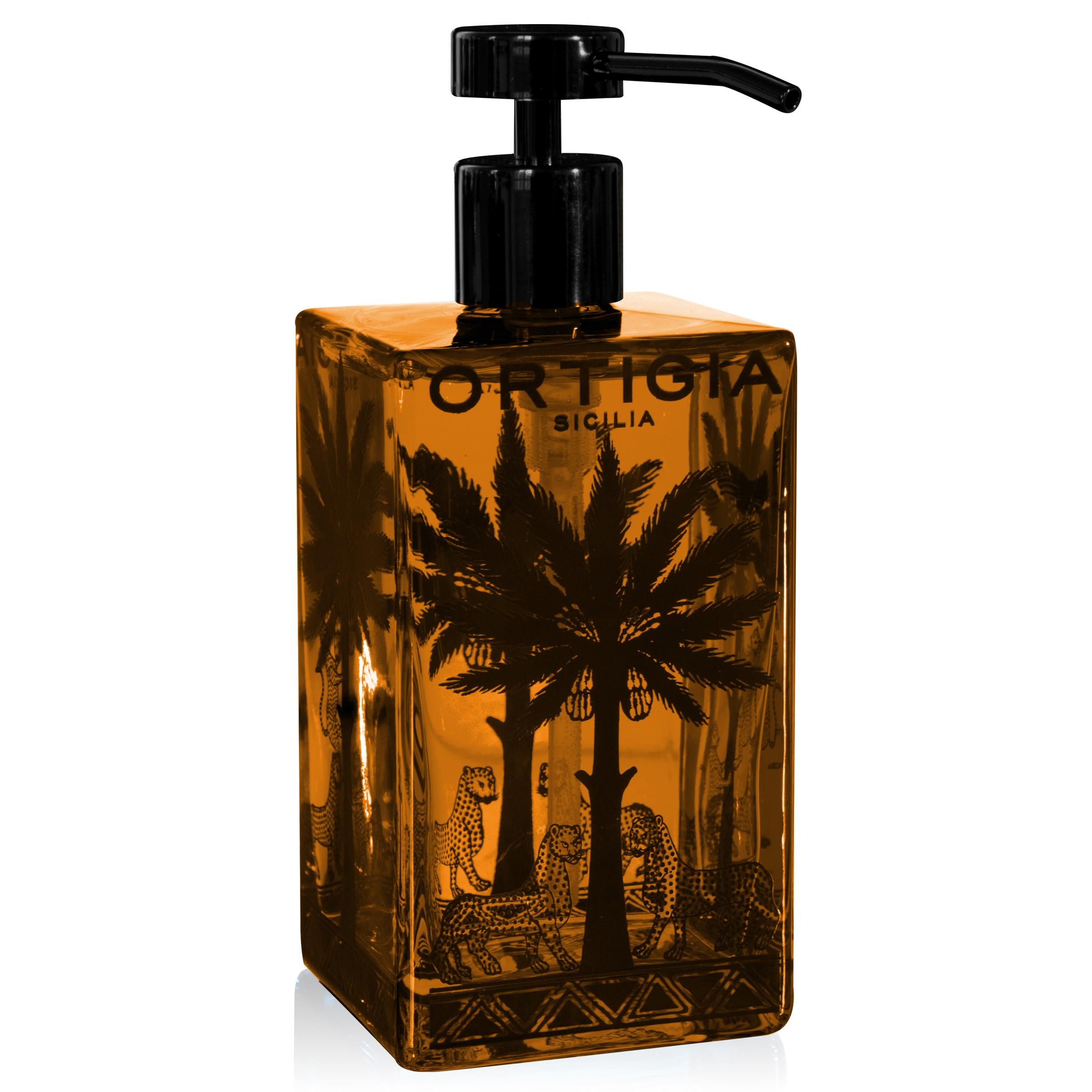ORTIGIA Ambra Nera Liquid Soap 500ml Glass