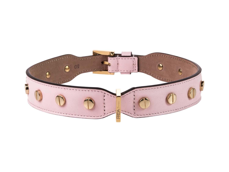 FRIDA FIRENZE Collar Stud Screw Large, Light Pink