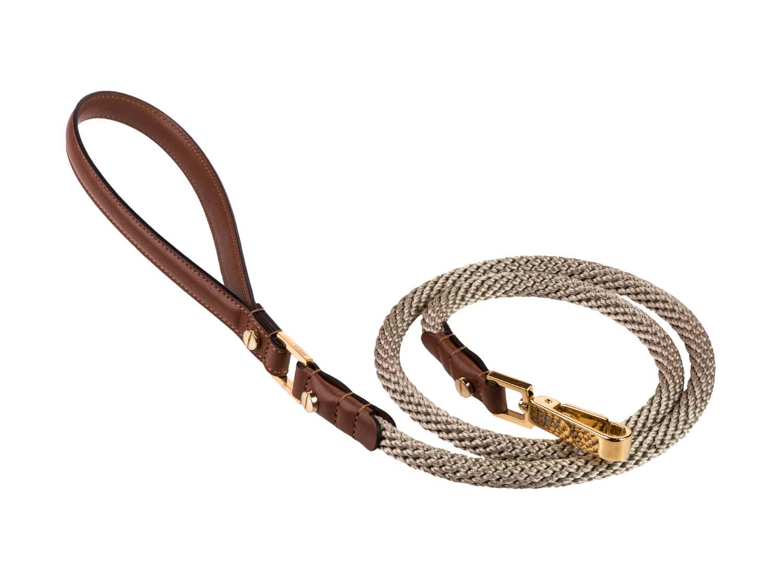 FRIDA FIRENZE Rope Leash, Brown