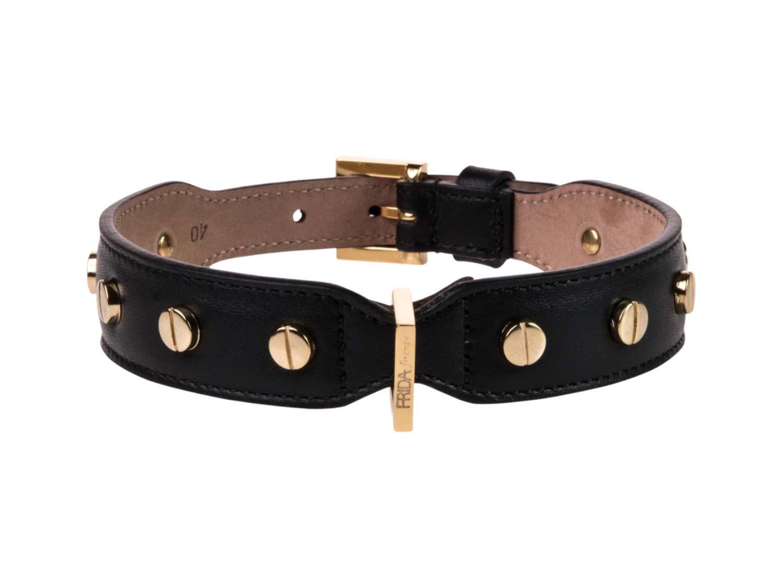 FRIDA FIRENZE Collar Stud Screw Large, Black