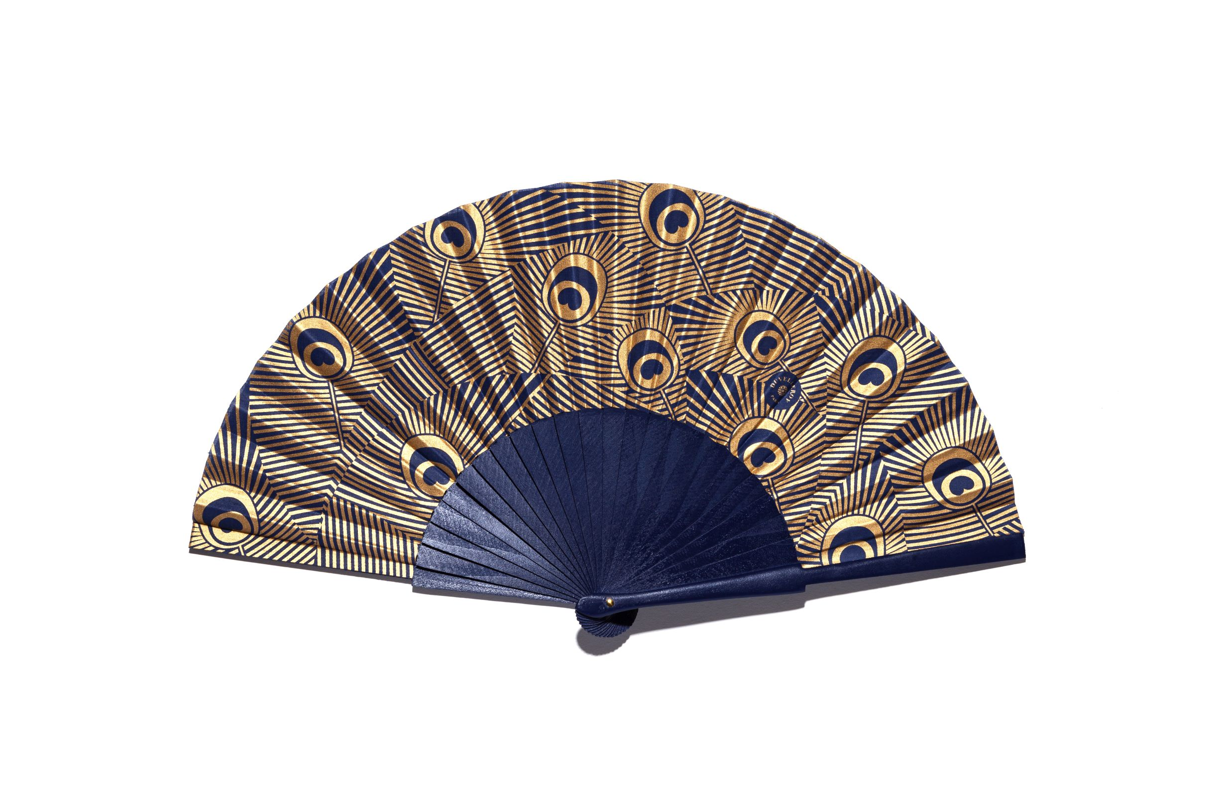 Duvelleroy BLUE PEACOCK HAND-FAN