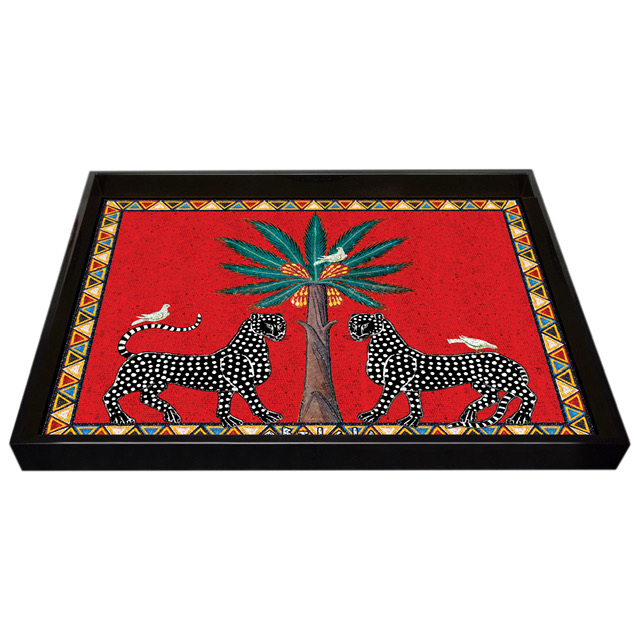 ORTIGIA Tray Large Red Mosaico