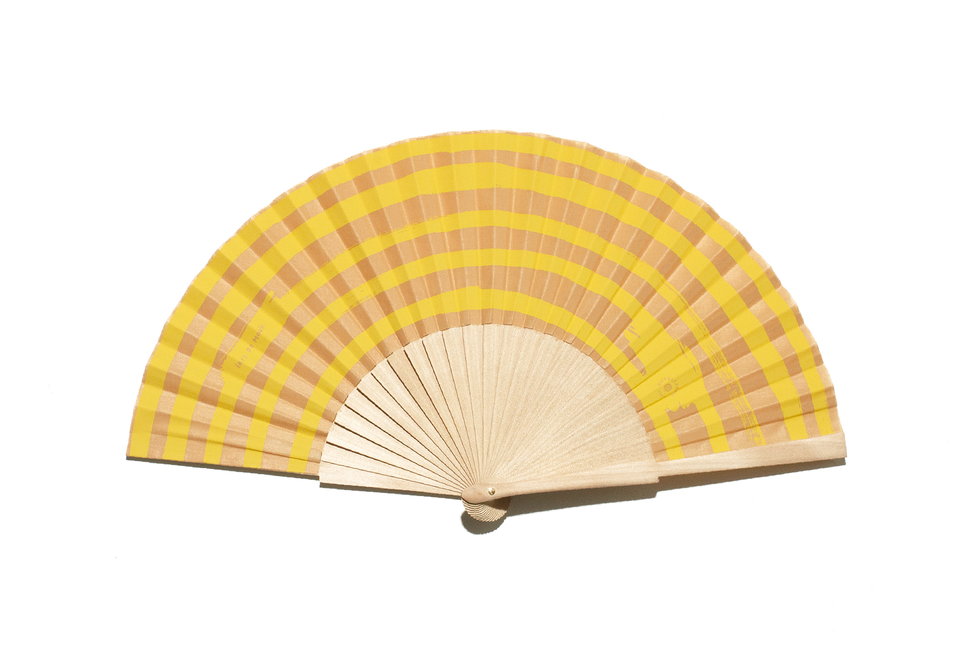 Duvelleroy LEMON AND HAZELNUT MARINIÈRE HAND-FAN