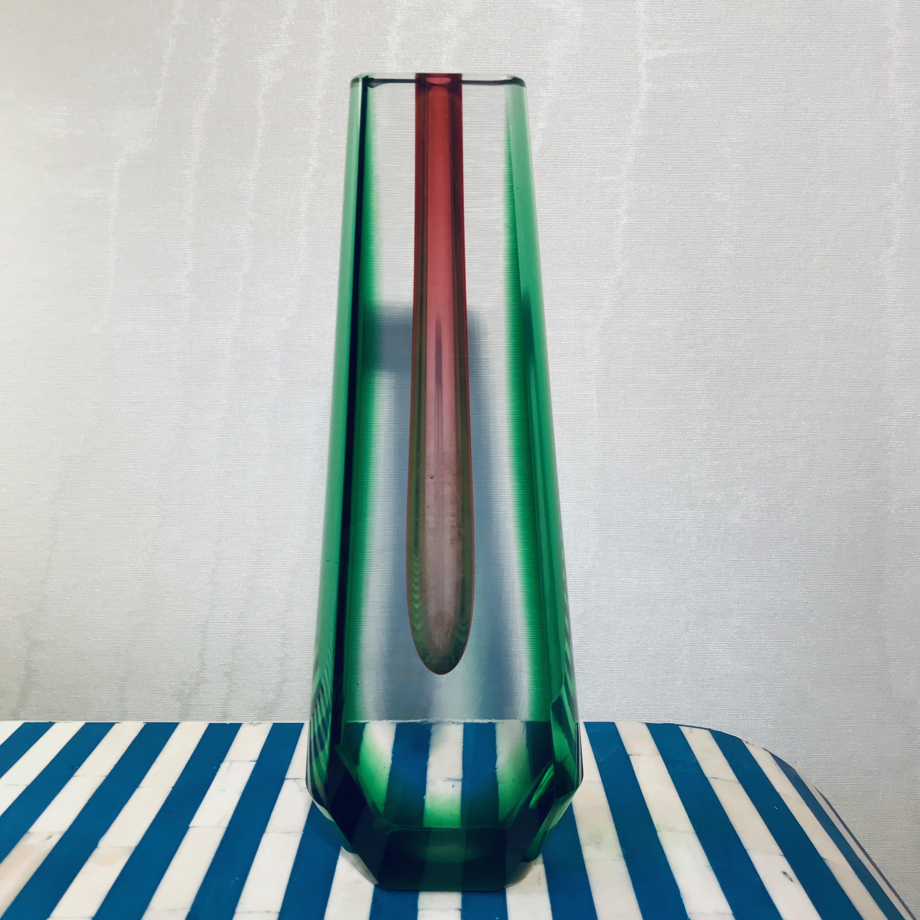 Flavio Poli Green Vase