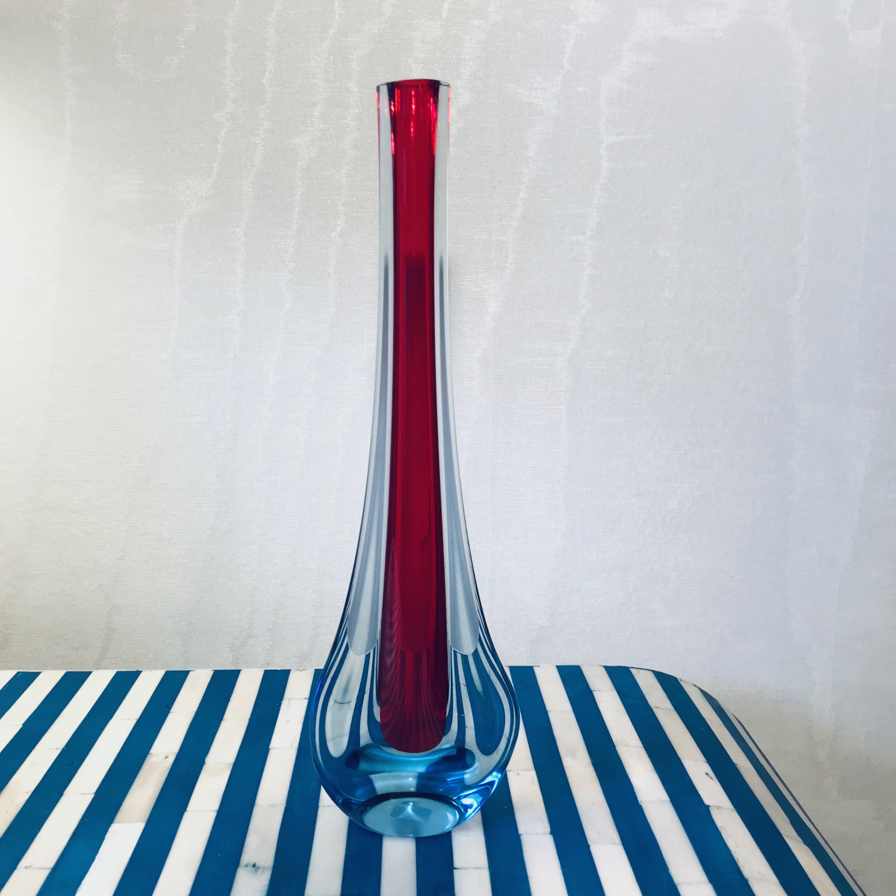 Flavio Poli Red Vase