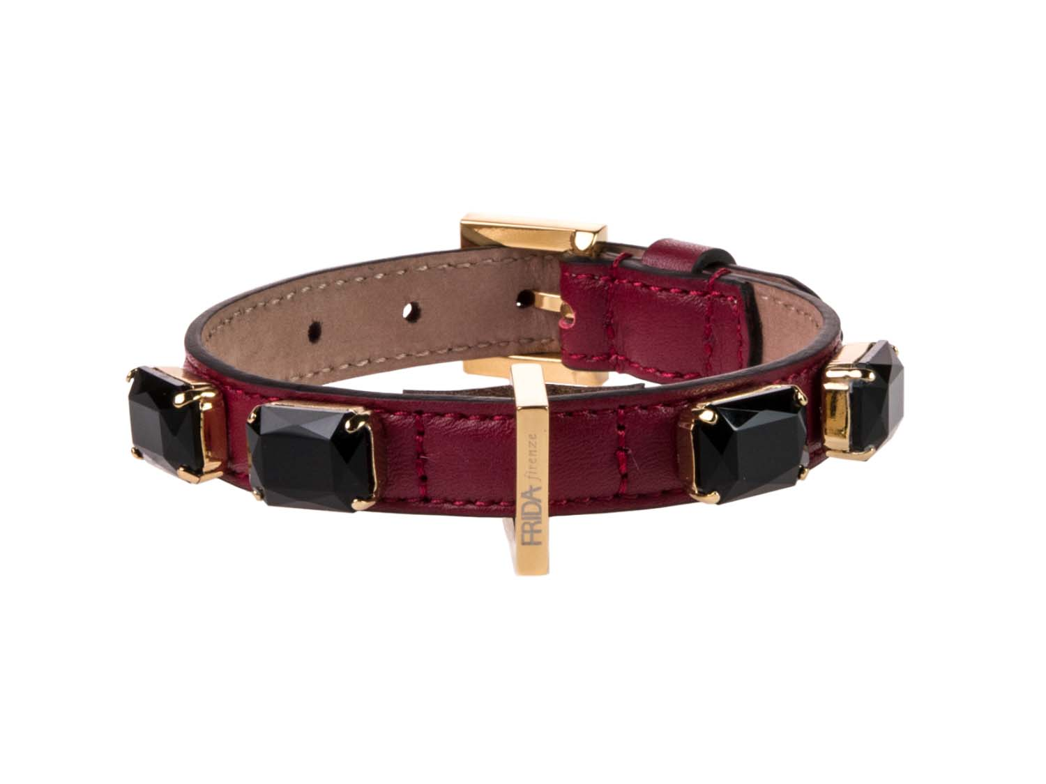 FRIDA FIRENZE Collar Jewel Small, Wine