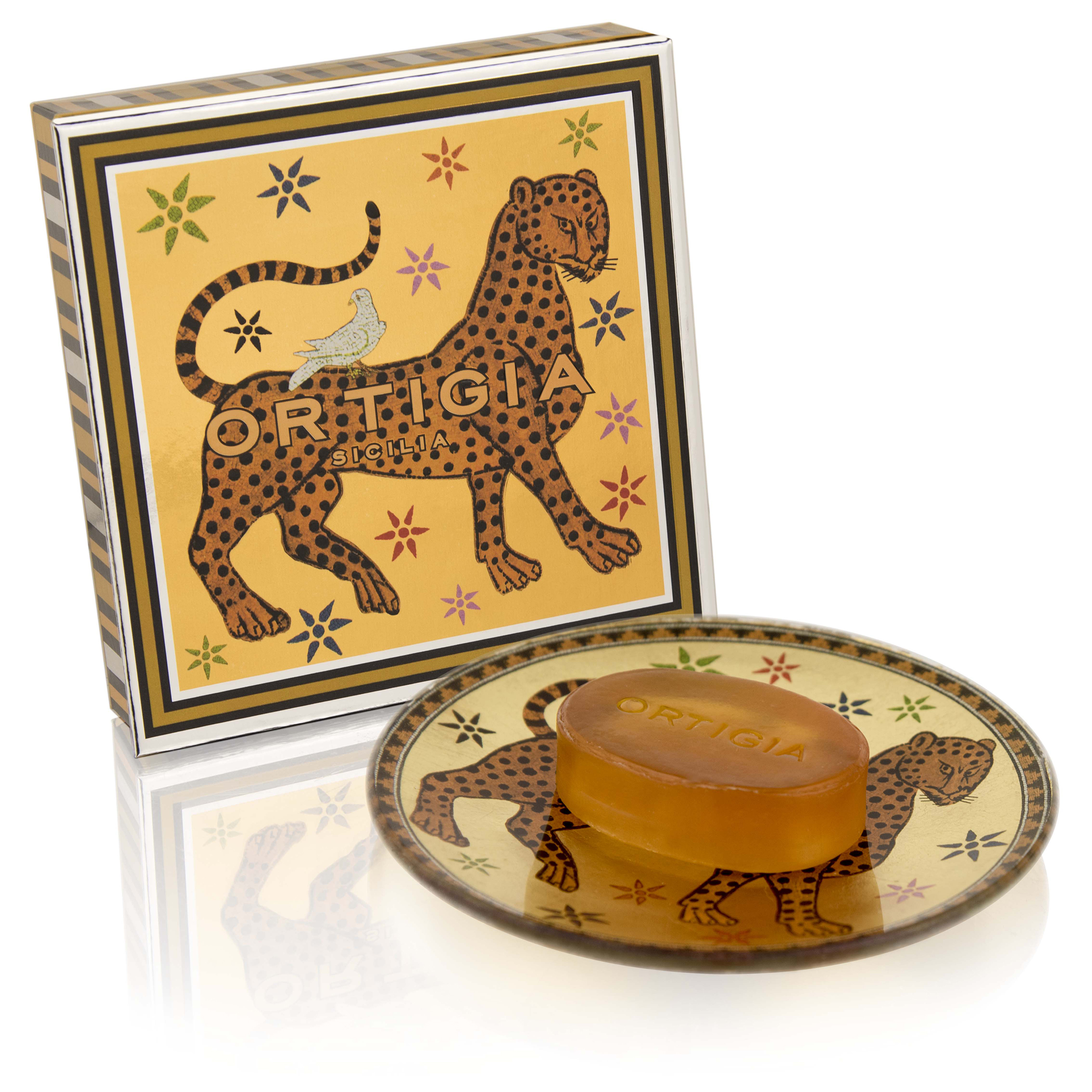 ORTIGIA Gattopardo Glass Plate & Soap