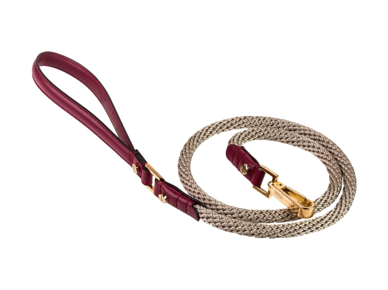 FRIDA FIRENZE Rope Leash, Wine