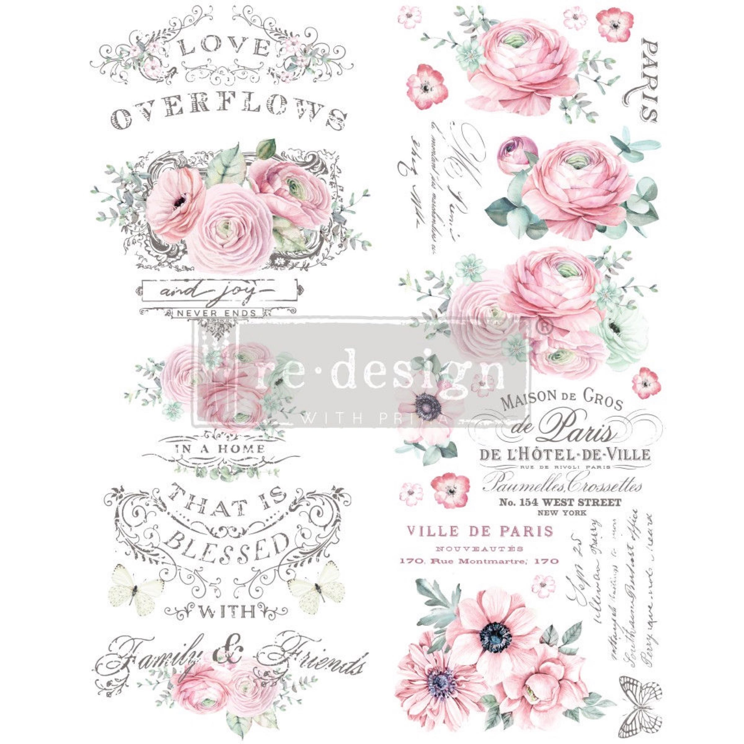 Re-Design with Prima Decor Transfer - Overflowing Love OUT OF STOCK