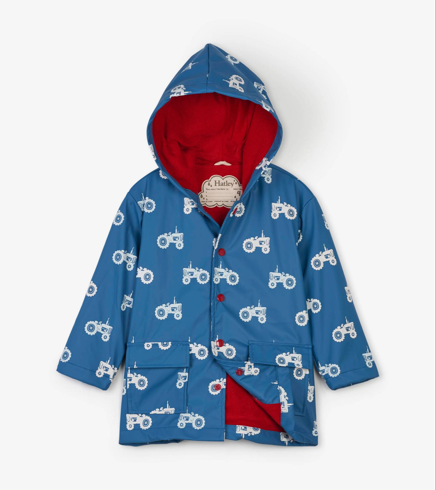 Hatley Farm Tractors Colour Changing Raincoat