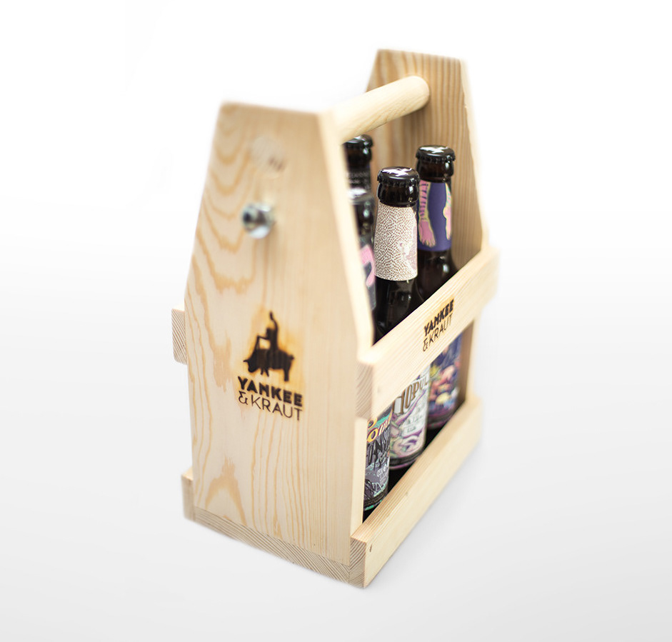 Holztragerl inkl. 6 x 0,33l Flaschen