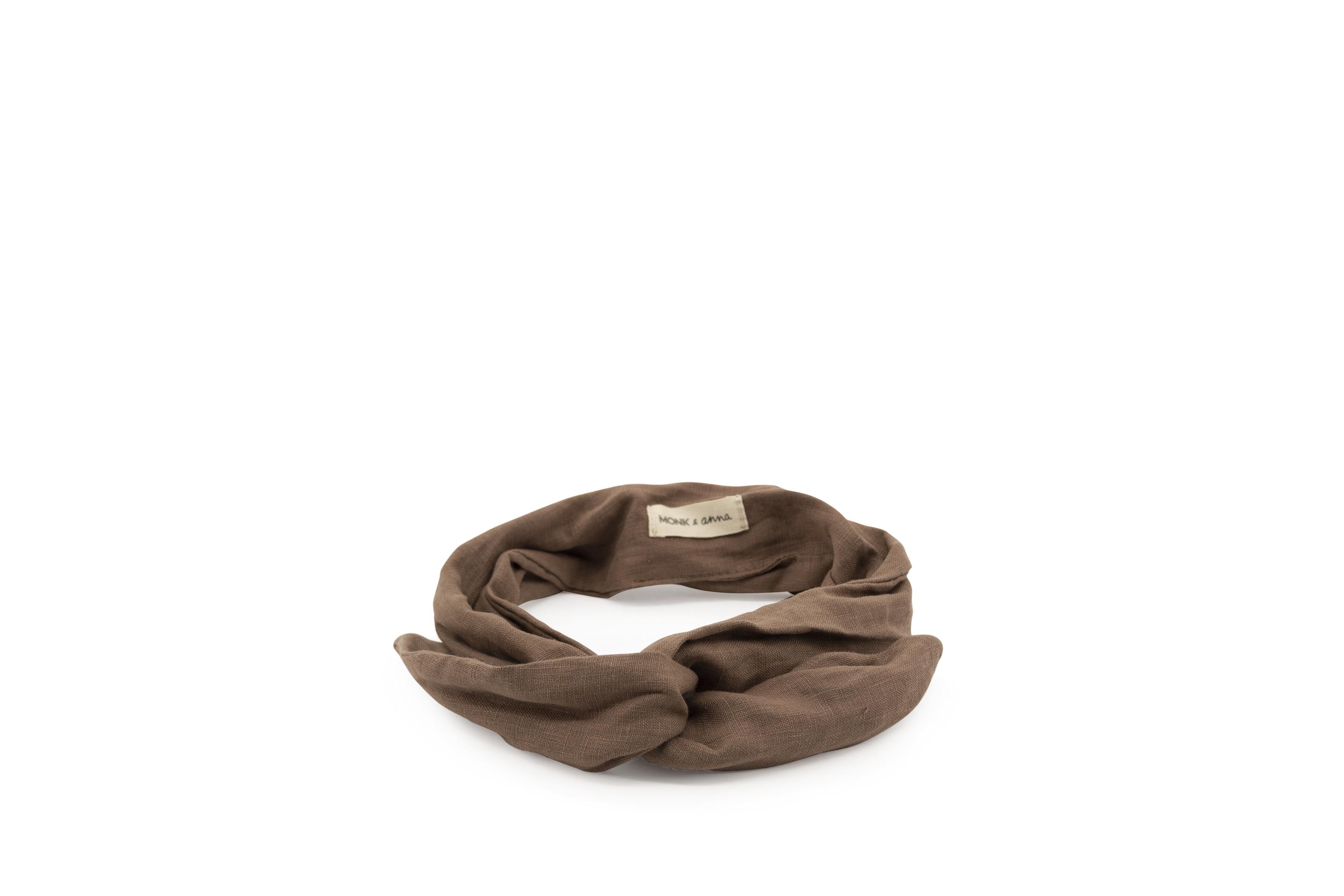 Linen Headband - Cacao