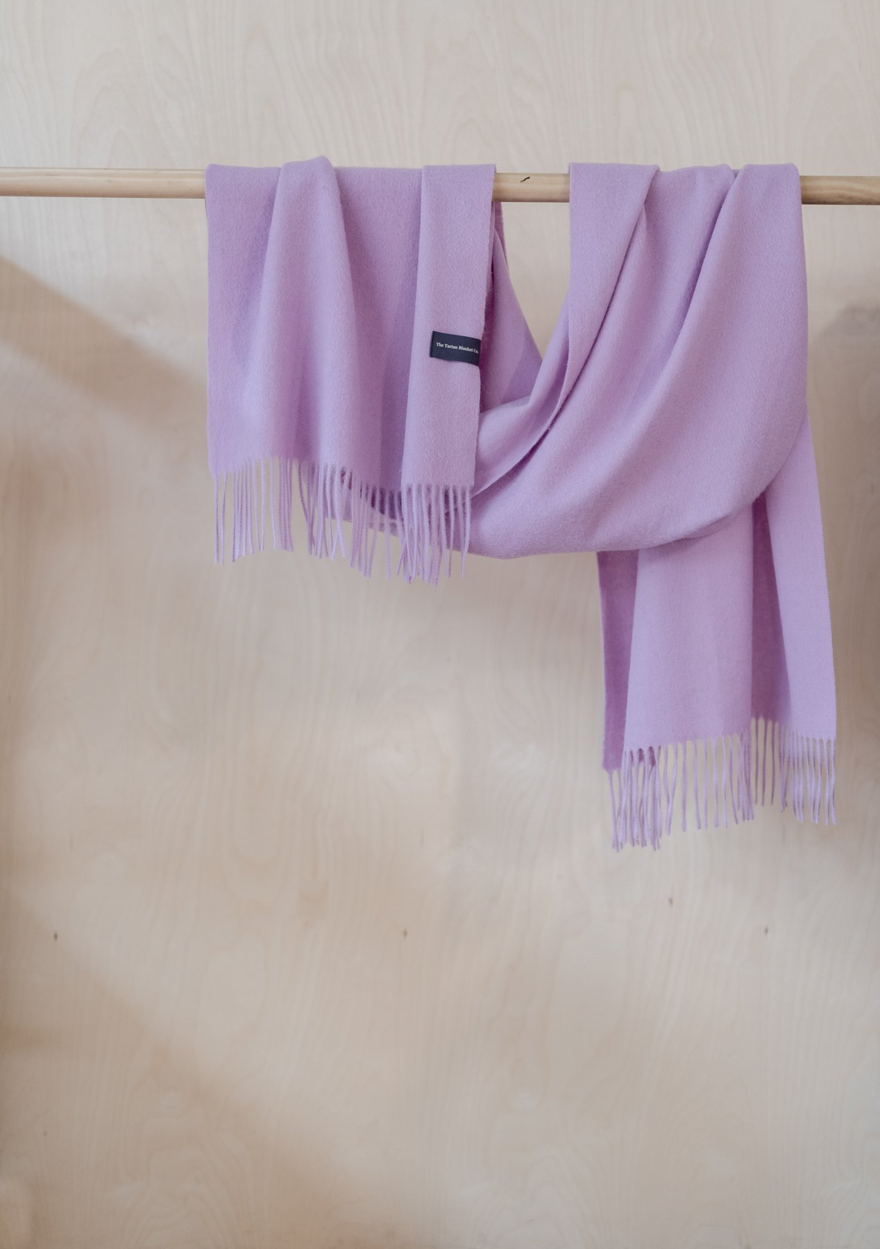 Lambswool Oversized Scarf, Lilac