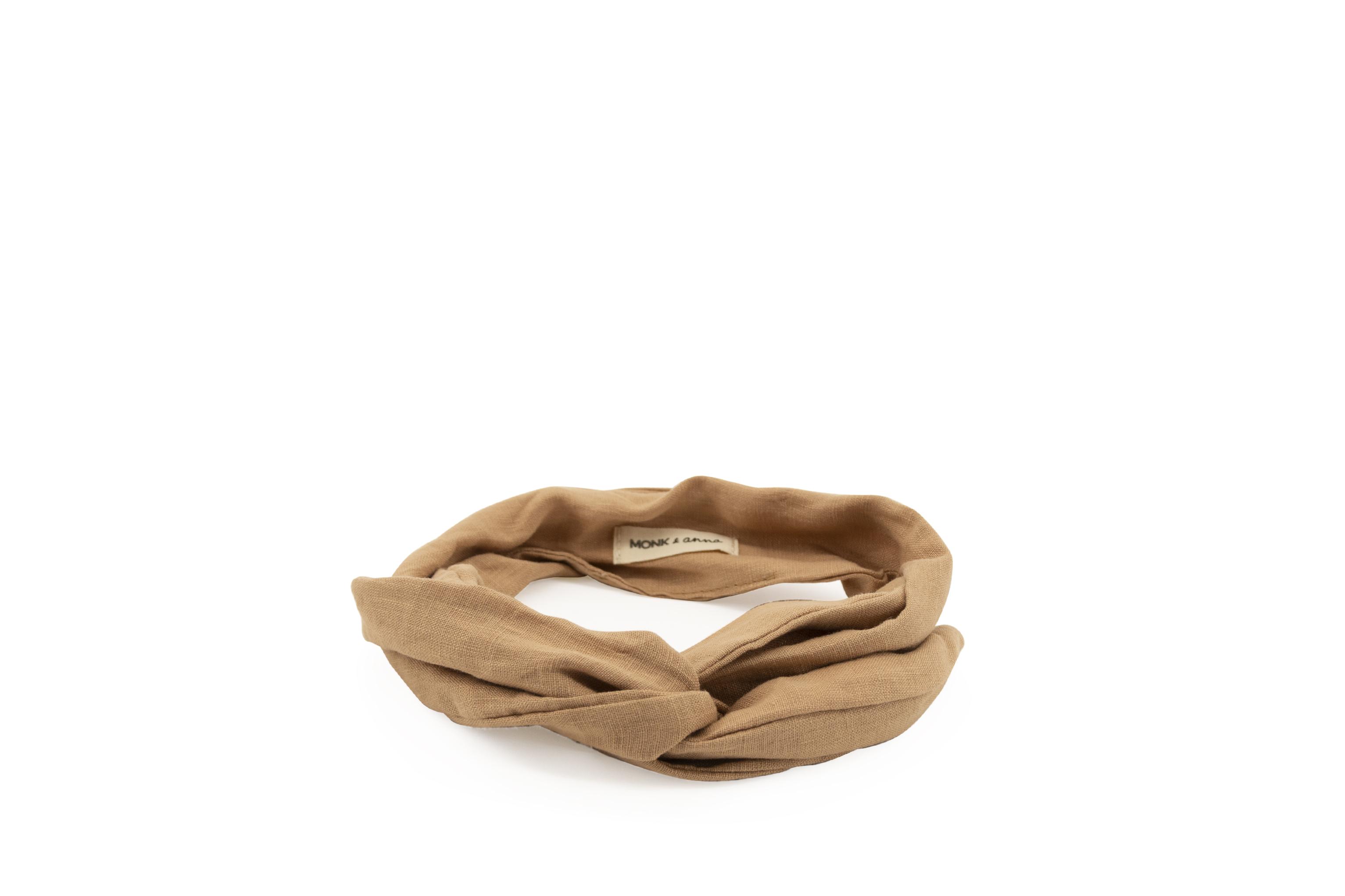 Linen Headband - Cashew