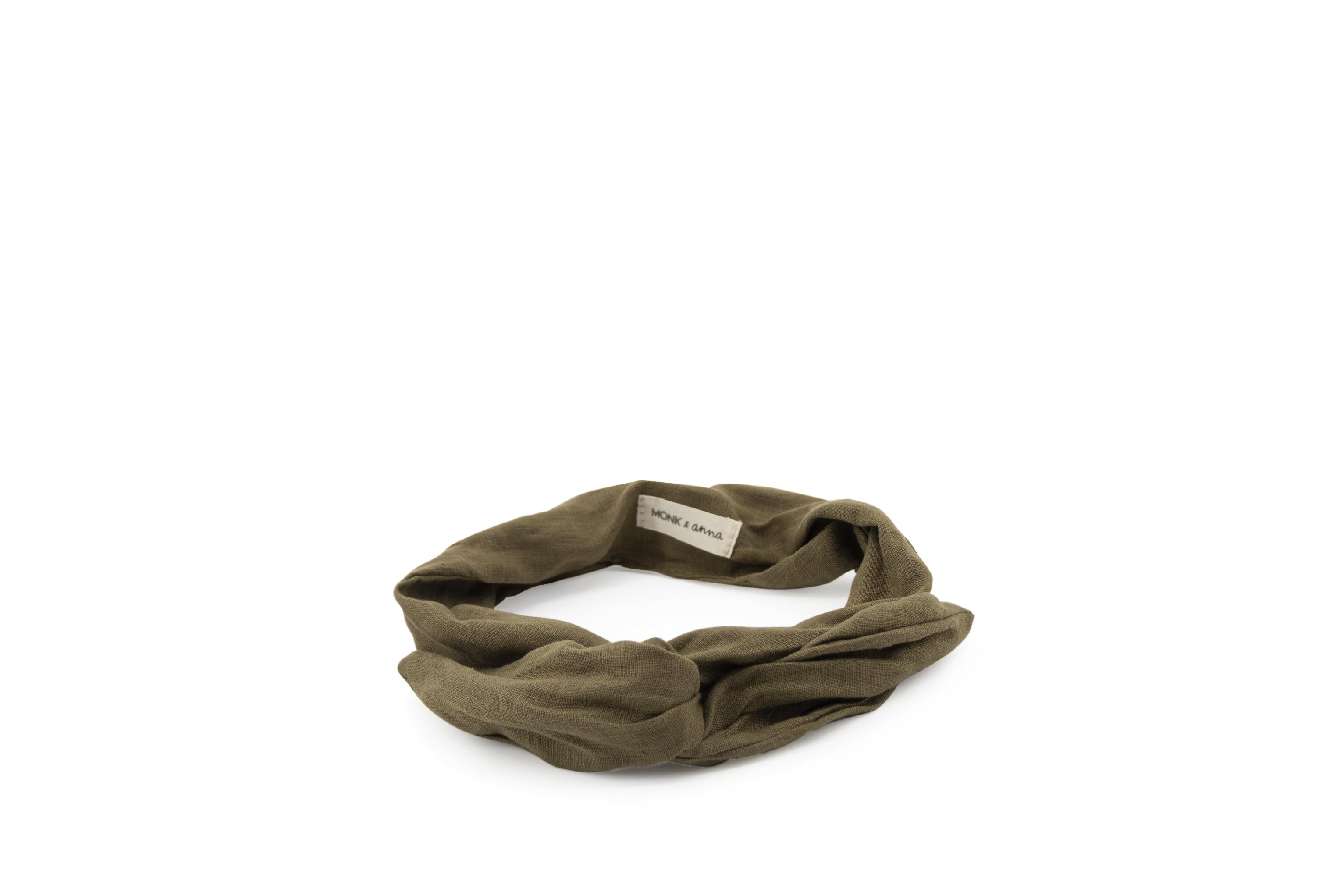 Linen headband - Olive