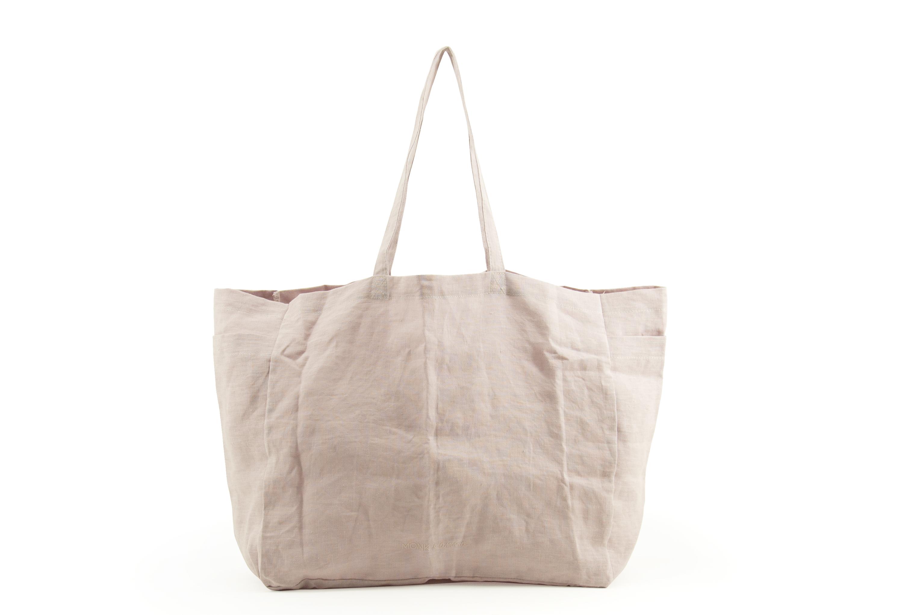 Large Linen Shopper - Pink