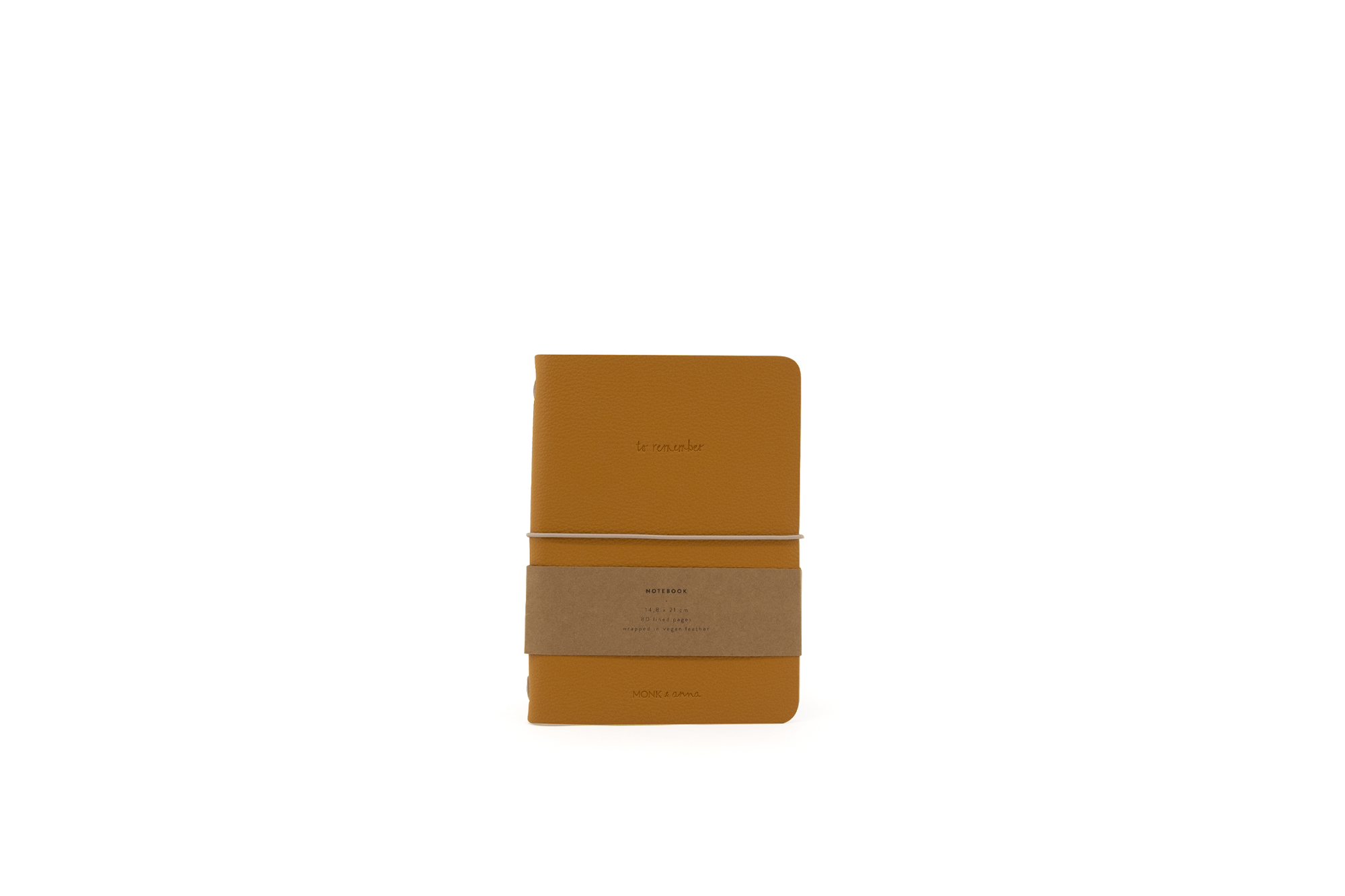 Vegan Leather Notebook, Orange
