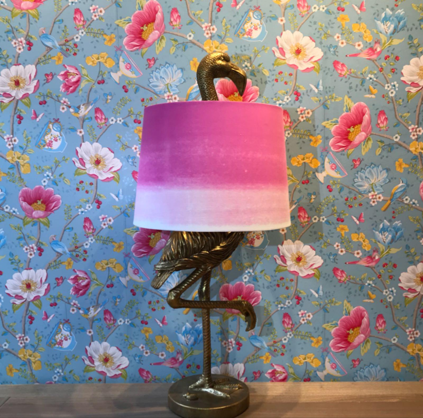 Gold flamingo lamp pink large 83cm x 35 cm
