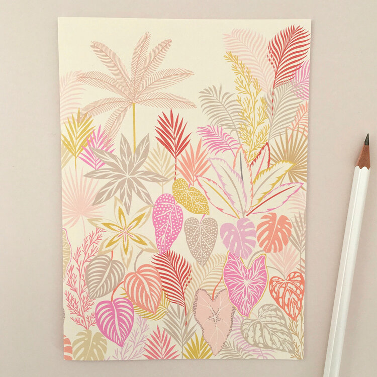'Tropical Botanics' Card by Elvira Van Vredenburgh