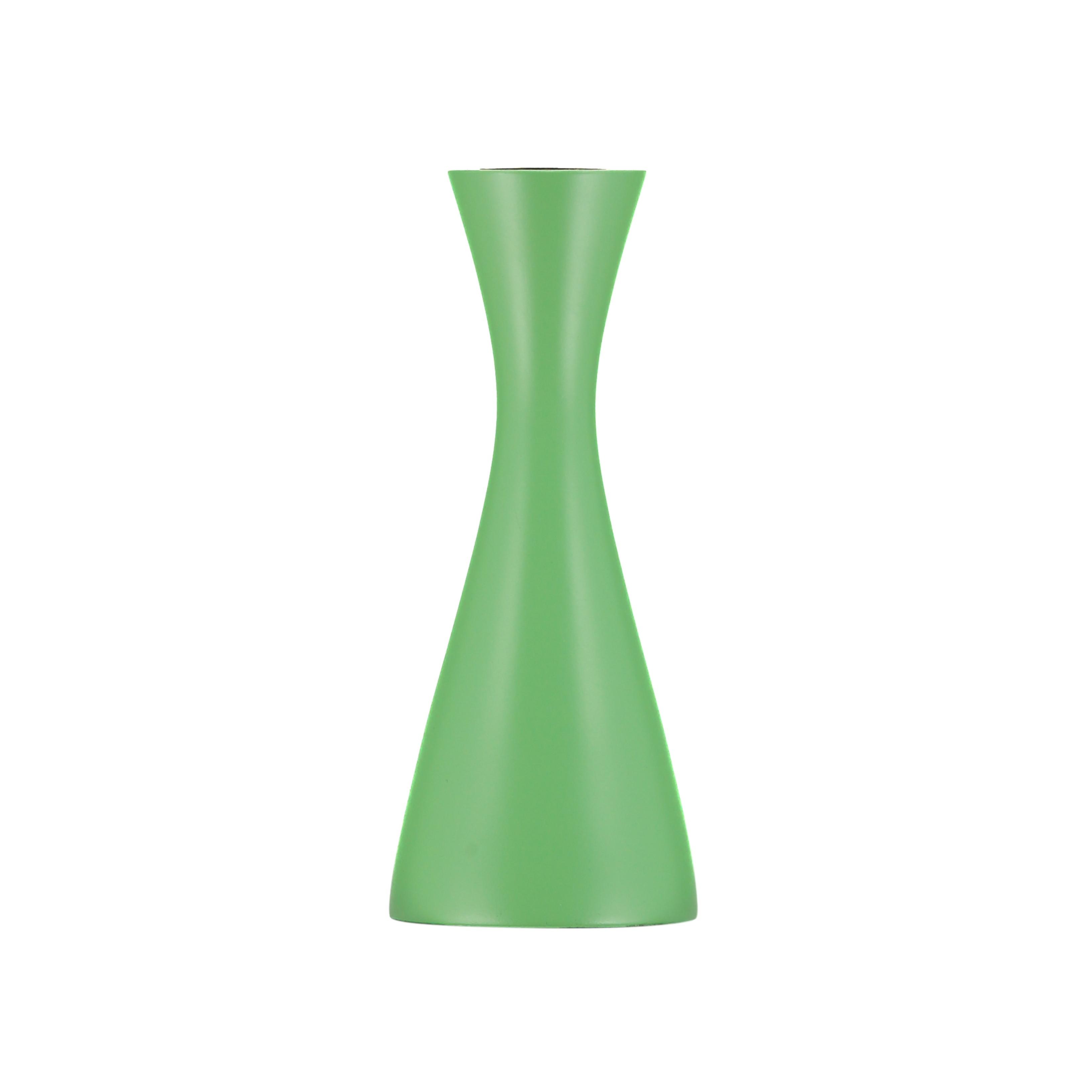 Opaline Green Medium Candle Holder by British Colour Standard