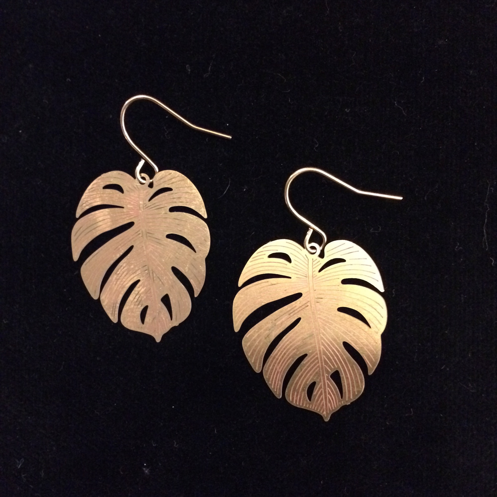 Monstera Leaf Earrings by State of A
