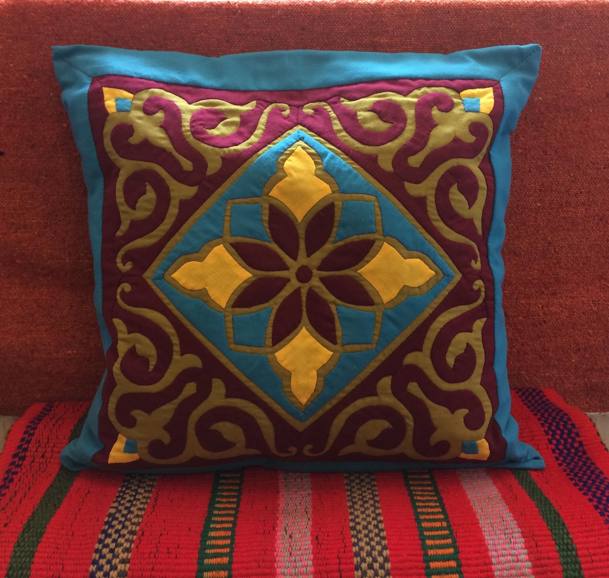 Egyptian Handmade Khayamiya Cushion Cover
