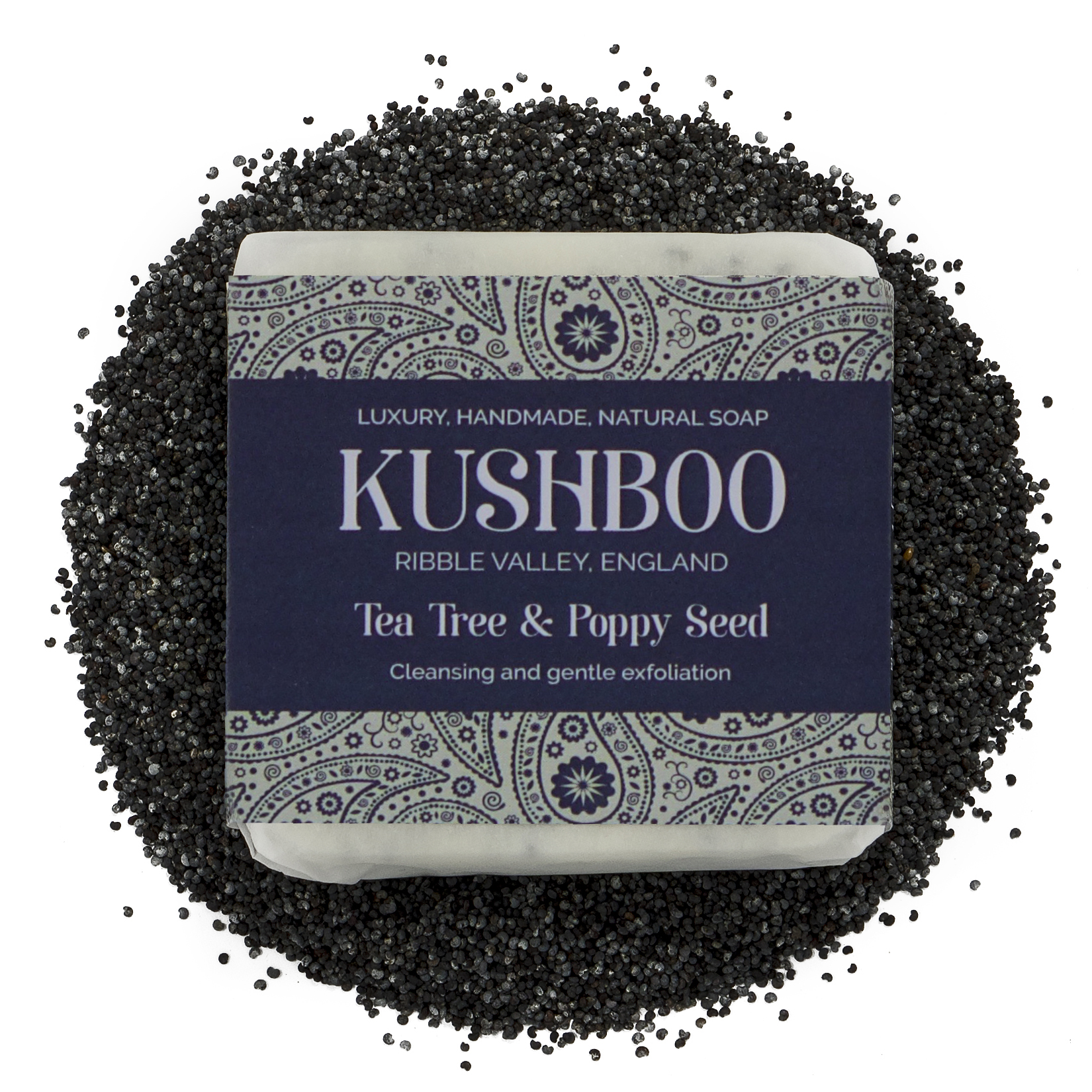 Kushboo Tea Tree and Poppy Seed Soap