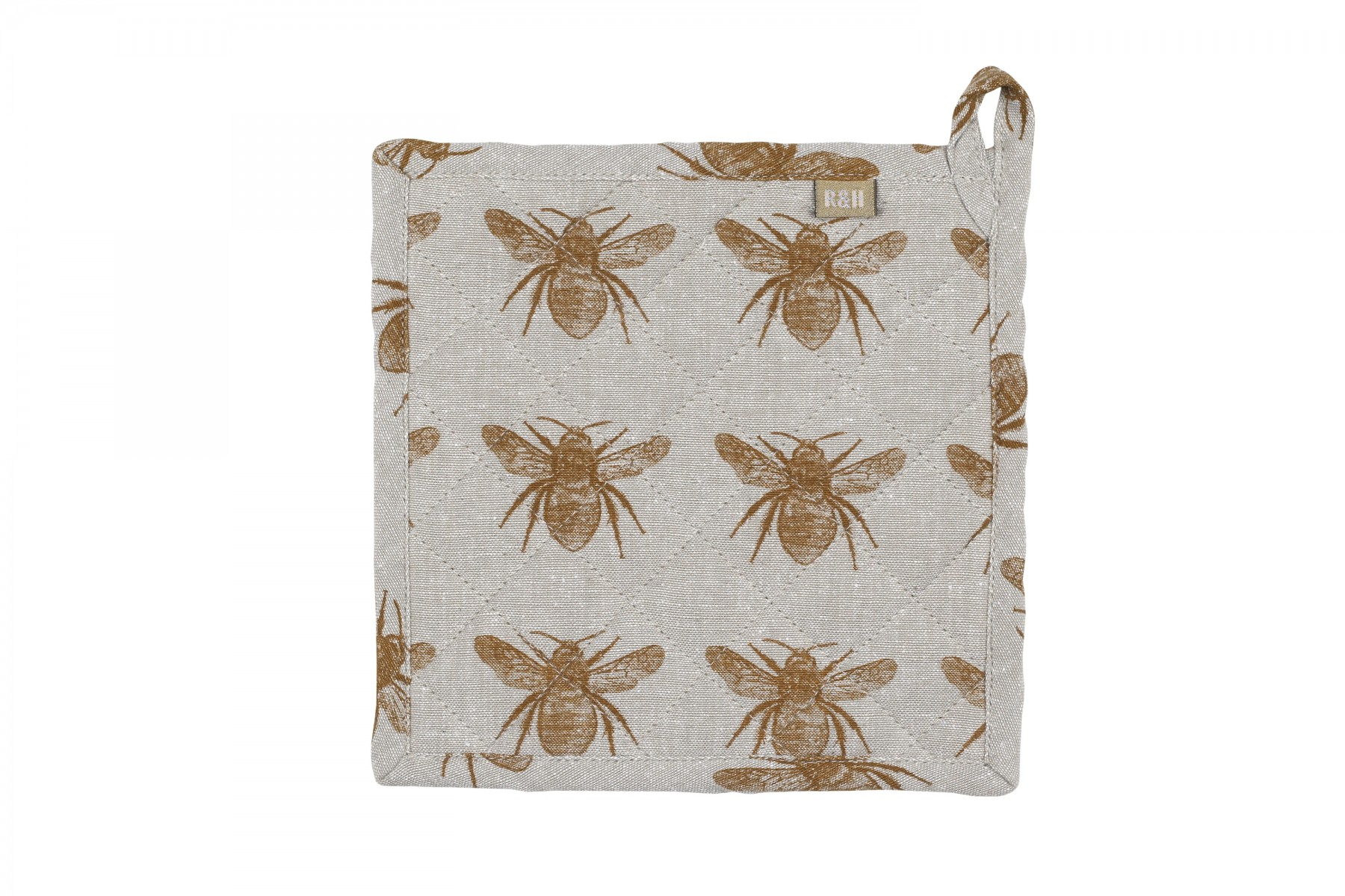 Honey Bee Trivet in Mustard Yellow