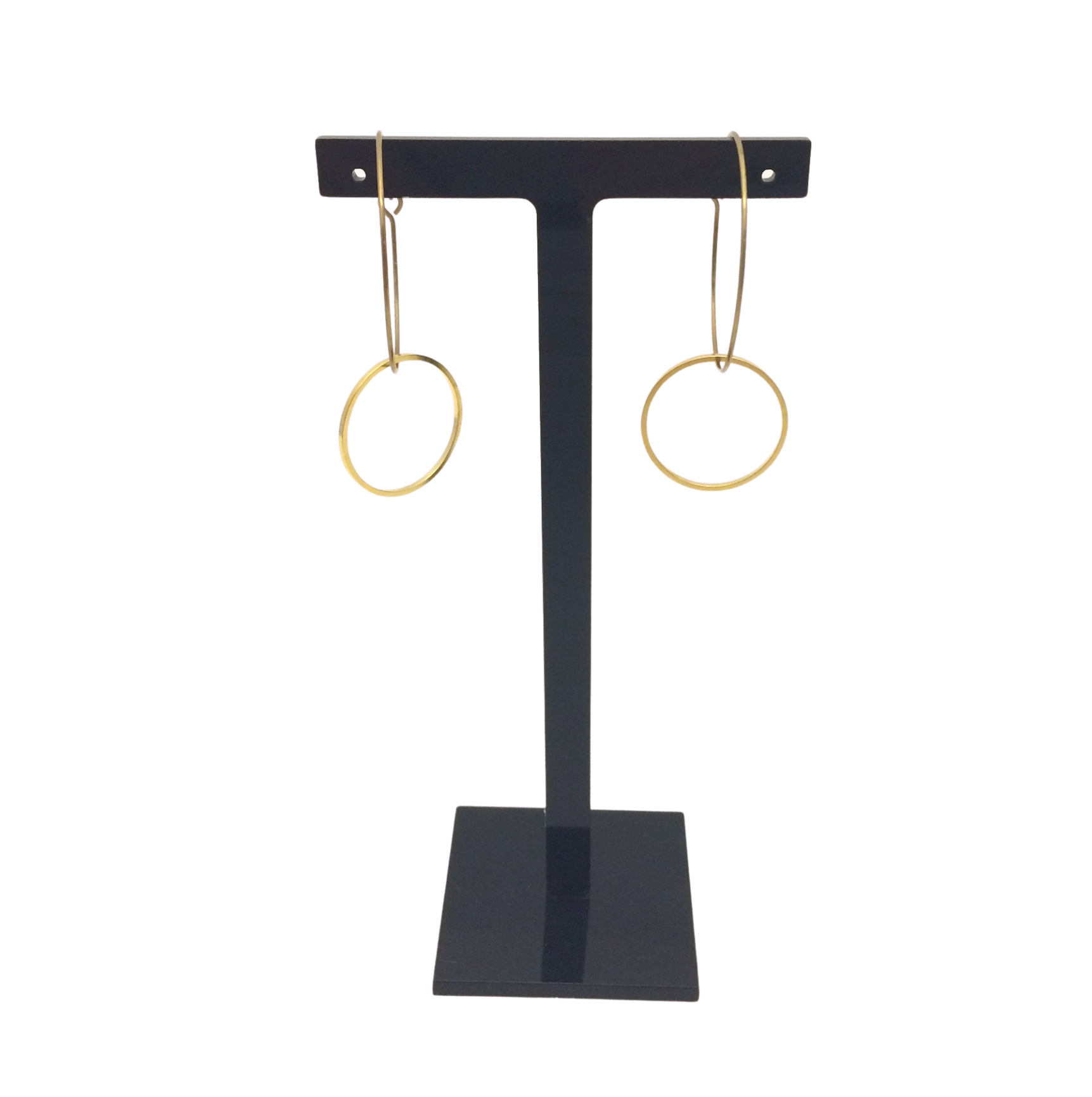 Irth Circle Medium Brass Hoops
