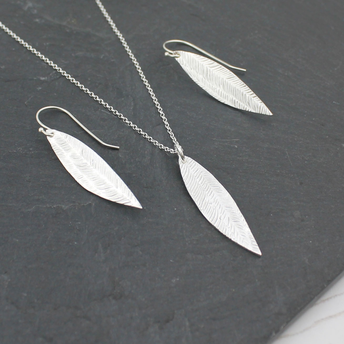 Handmade Sterling Silver Palm Pendant by Lucy Kemp