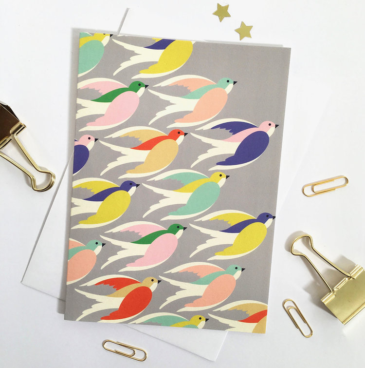 'Birds in Flight' Card by Elvira Van Vredenburgh