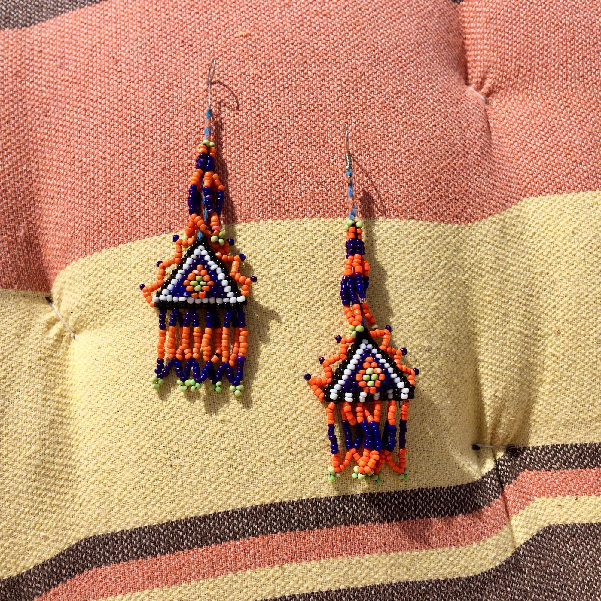 Bedouin Beaded Medali Earrings