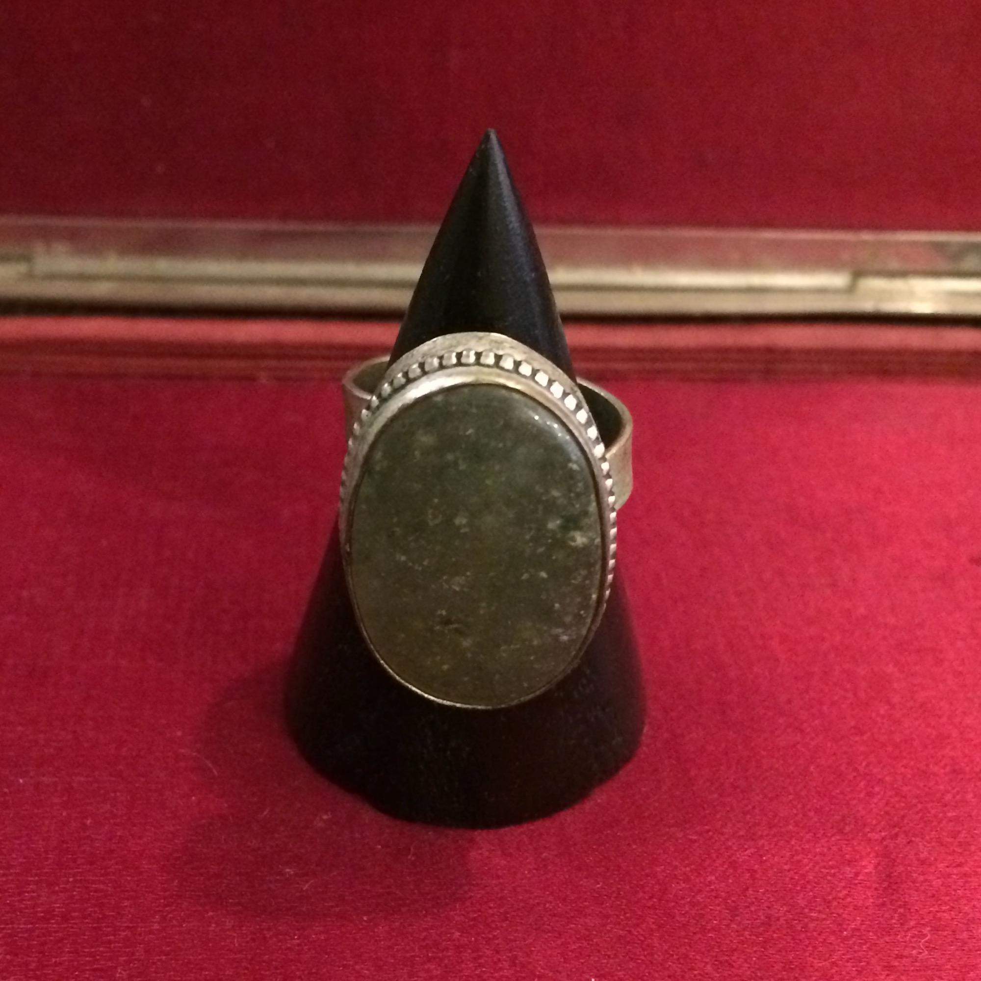 Berber Silver & Jade Ring