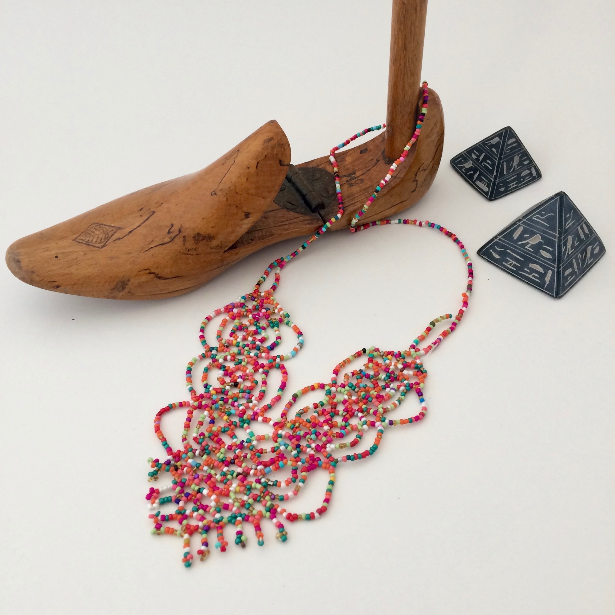 Bedouin Multicolour Beaded Necklace
