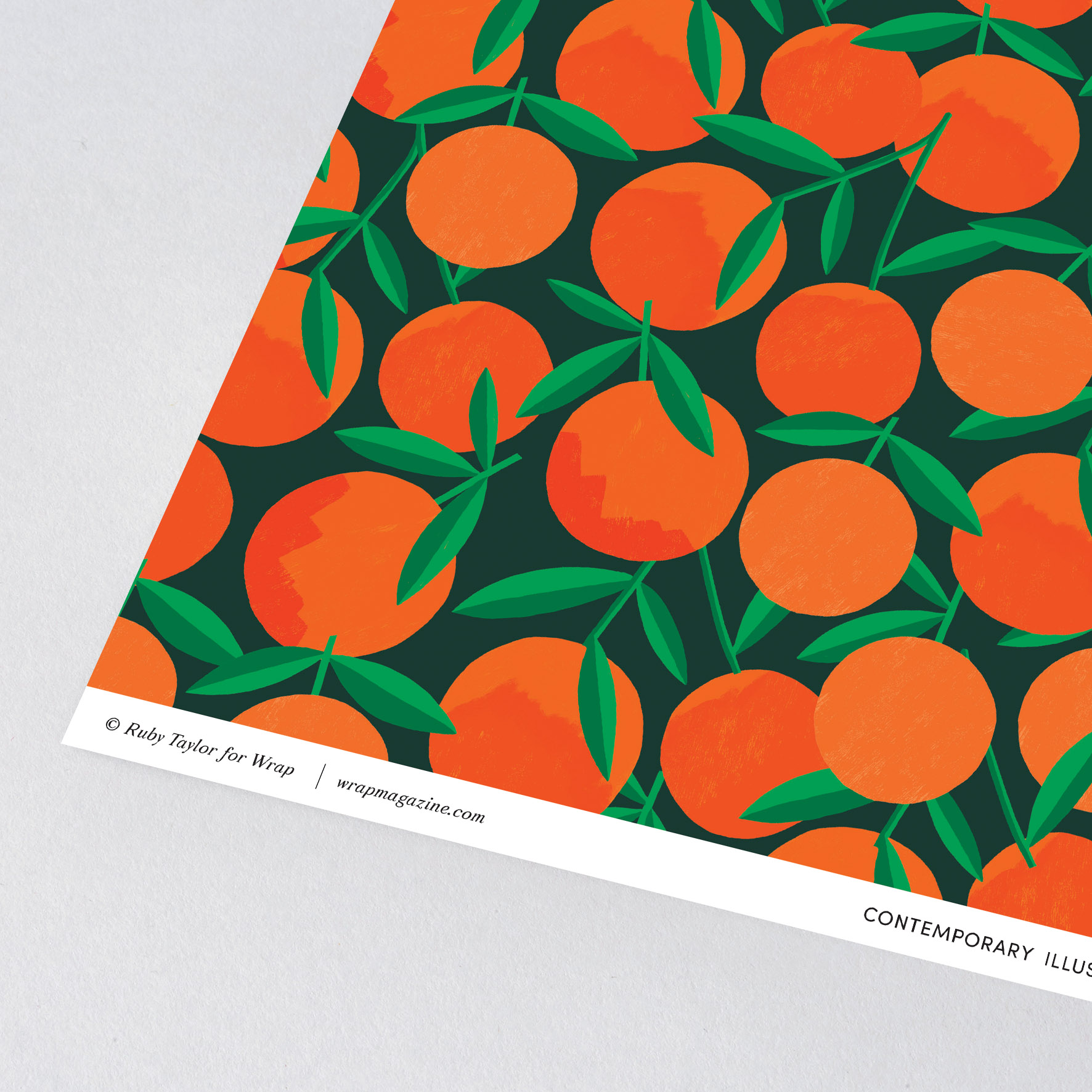Clementines Giftwrap by Wrap